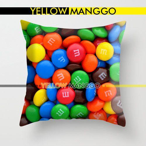 """m&m pillow texture pillow case cover bedding 18""""x18"""" unique gift"""