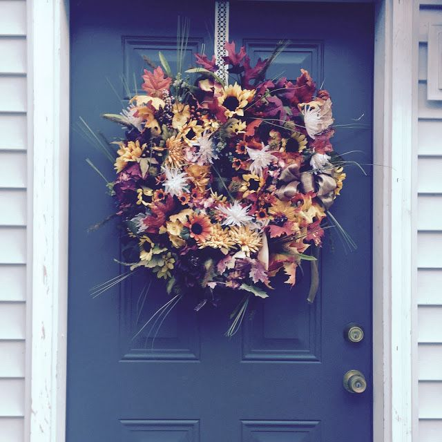 OUR CRAFTY MOM: DOUBLE FALL WREATH