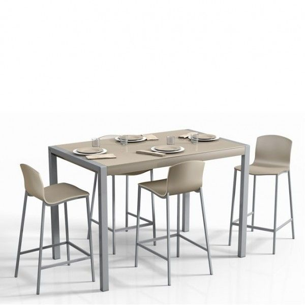 Table De Cuisine En Verre Extensible Hauteur 90 Cm