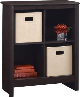 Altra Furniture 4 Cube Storage Cubby Bookcase With 2 Storage Bins In Dark  Roast     Lowest Price Online On All Altra Furniture 4 Cube Storage Cubby  Bookcase ...