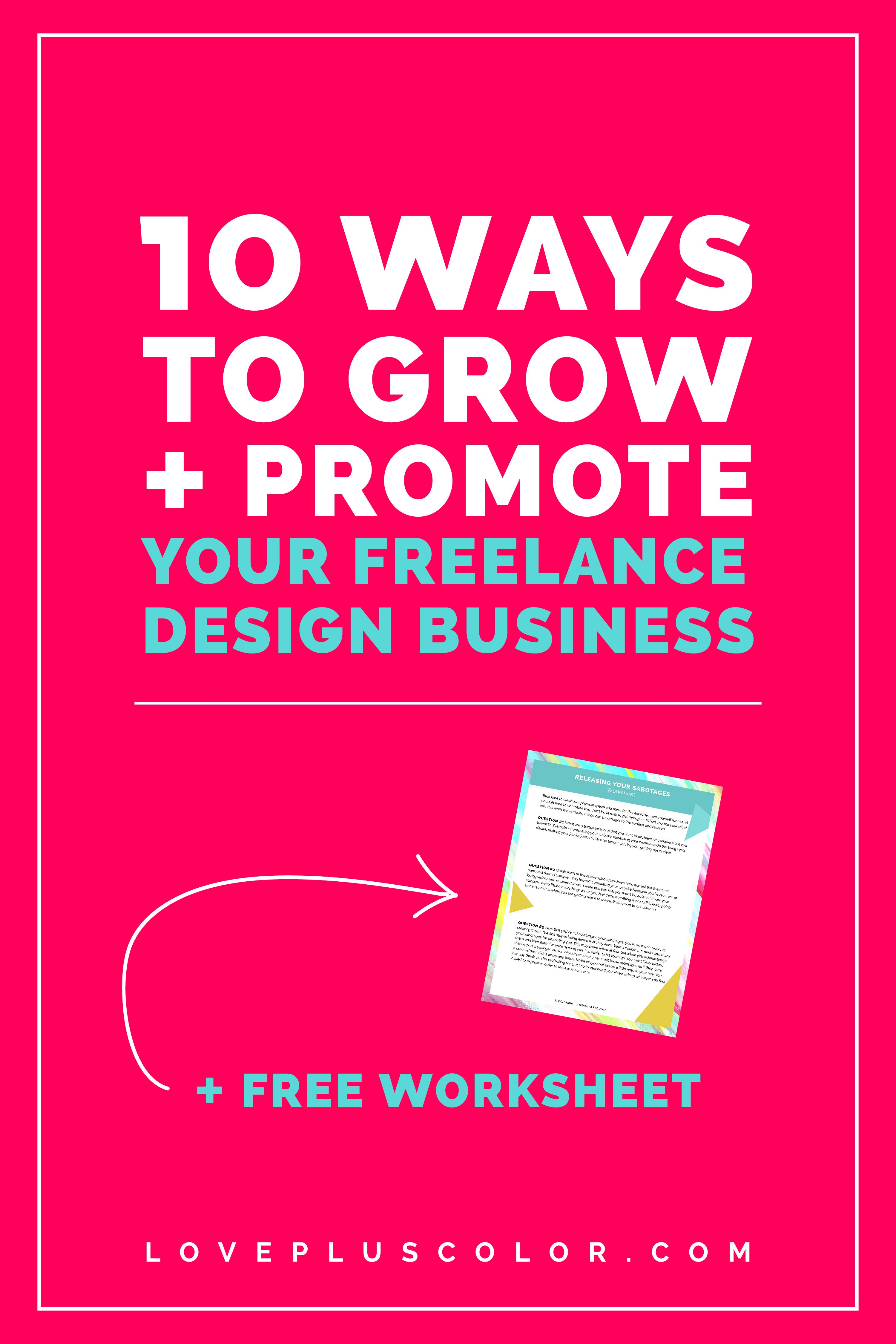 10 Ways You Can Grow And Promote Your Freelance Design