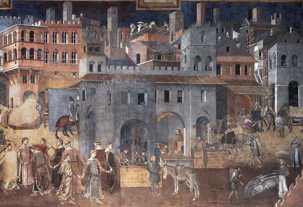 Sala Dei Nove Siena.Ambrogio Lorenzetti Effetti Del Buono Governo In Citta