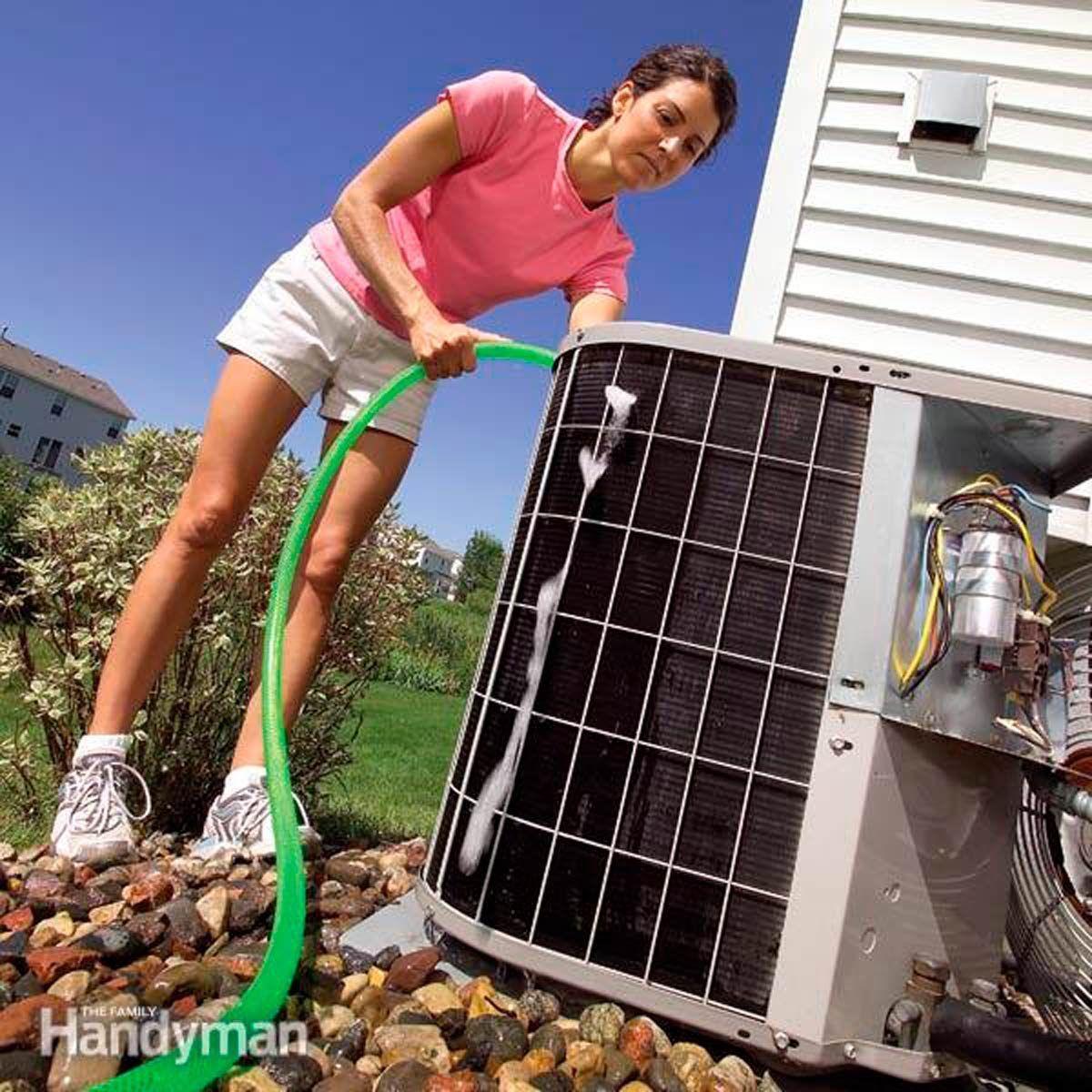 How To Clean An Ac Condenser In 2020 Air Conditioner Maintenance Clean Air Conditioner Central Air Conditioners