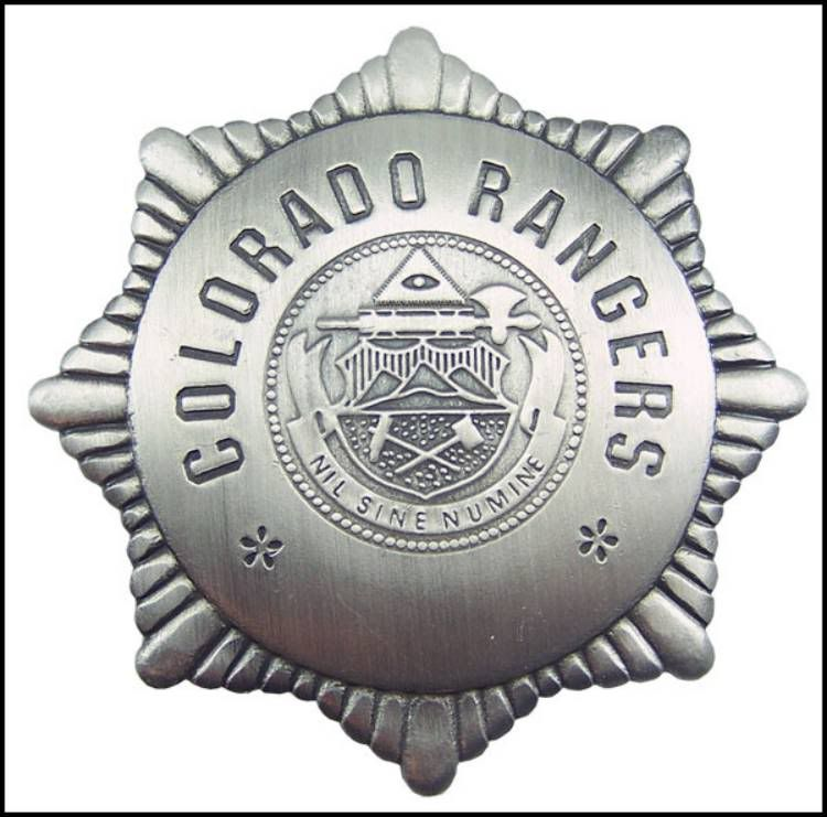 Old West Lawman Badges | Item:10394448 REPLICA OLD WEST COLORADO RANGER BADGE SASS NCOWS For ...