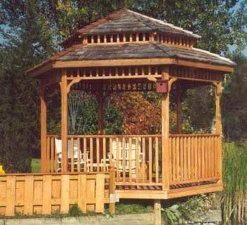 10ft Precut Hexagon Gazebo Tiered Roof By Cedarshed Industries