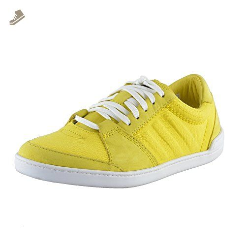 Adidas SLVR Women\u0027s Yellow Canvas Leather Fashion Sneakers Shoes US 5 IT 37  1/3
