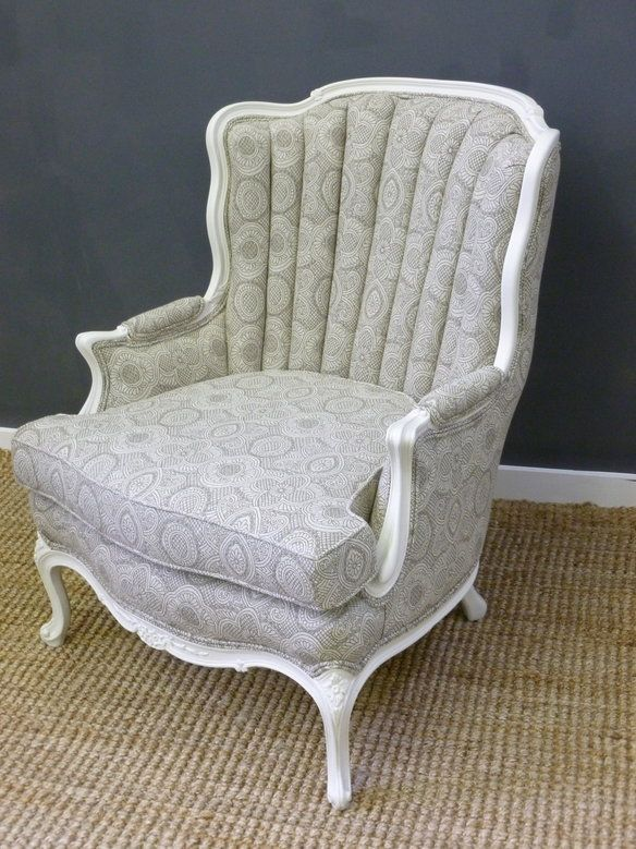 Reupholstered Antique Channel-Back Arm Chair - Loading Furniture Pinterest Furniture, Armchair And Chair