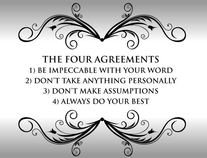 The Four Agreements \ - agreement in word