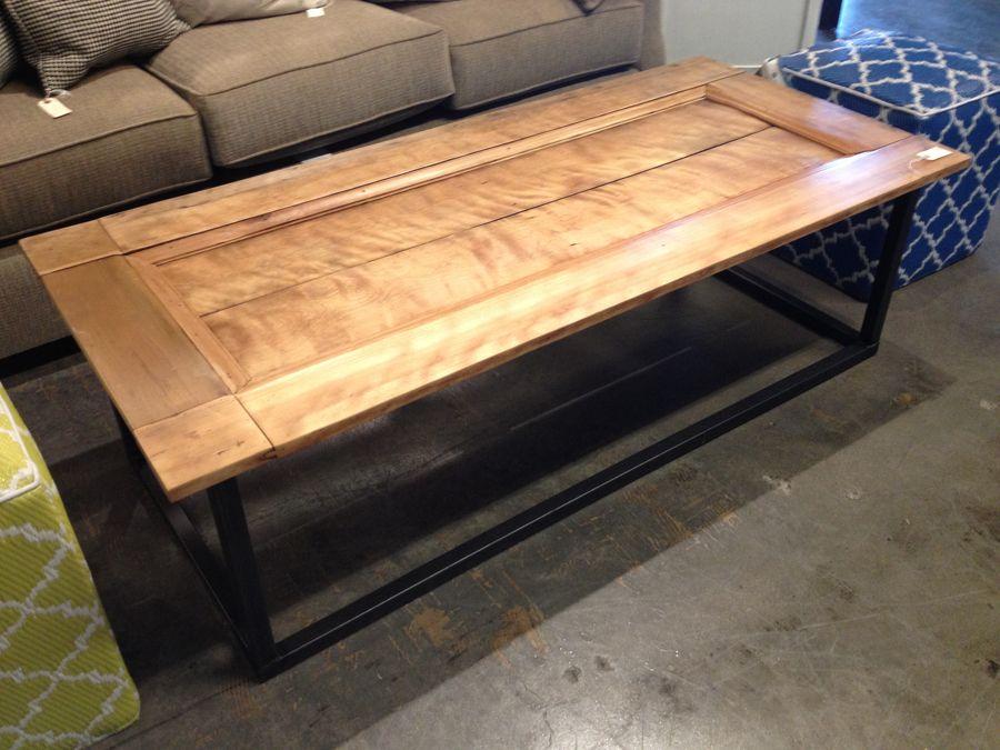 repurposed old door coffee table | industrial | pinterest | door