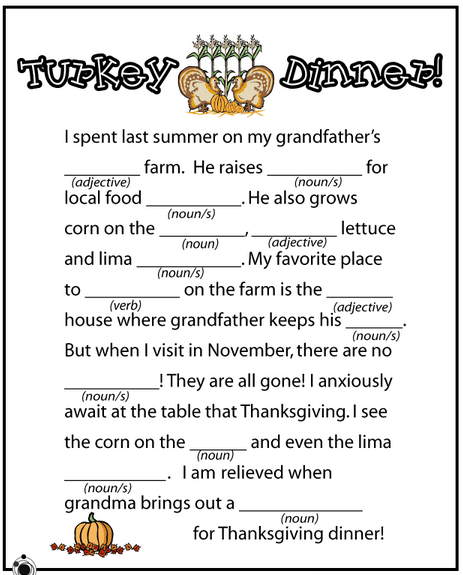 mad libs for kids - Google Search   Parts of Speech   Pinterest