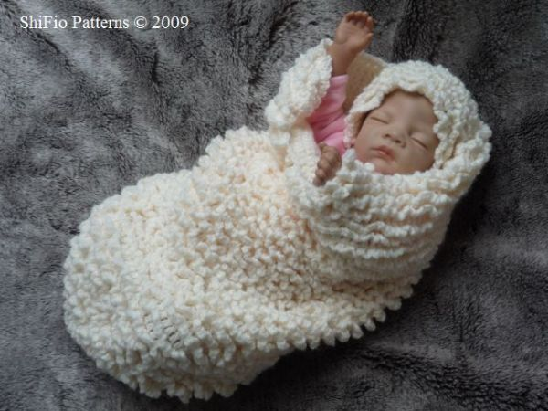 Christmas Baby Cocoon Loom Knitting
