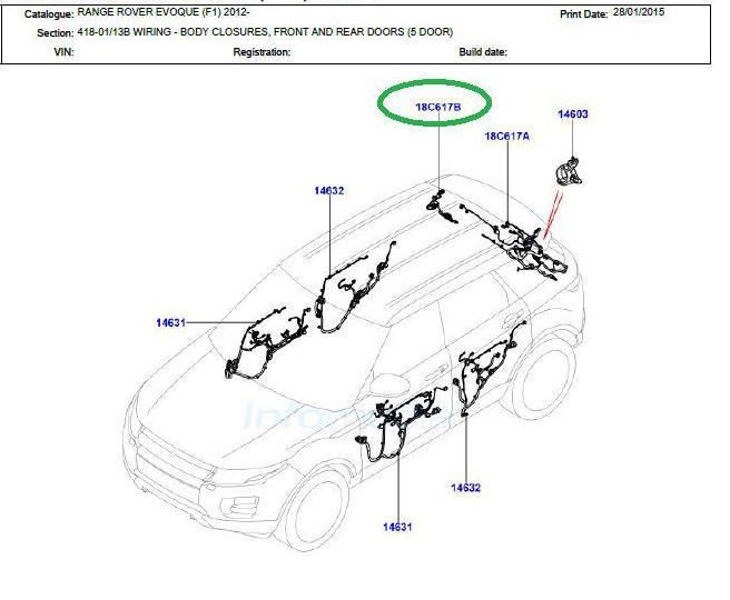 2015 land rover wire harness