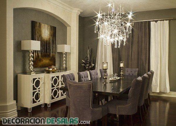 Disfrut de estos comedores formales y muy elegantes for Comedores grandes modernos