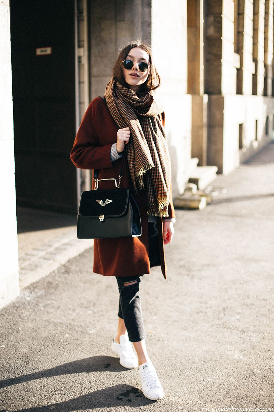 893f9154001 How To Wear An Oversized Scarf • The Fashion Cuisine