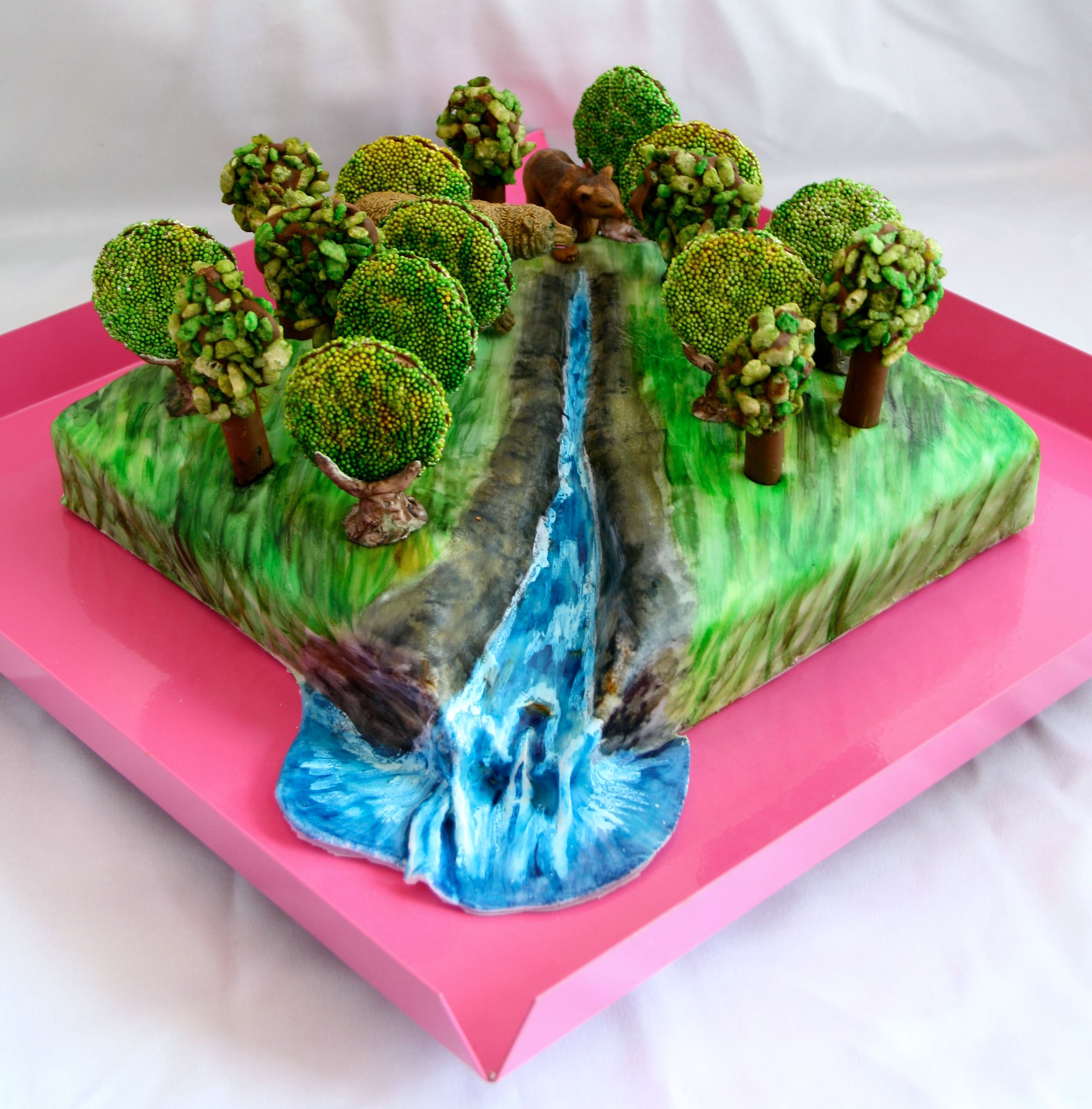 Th birthday forest cake janette spalter cakes i made