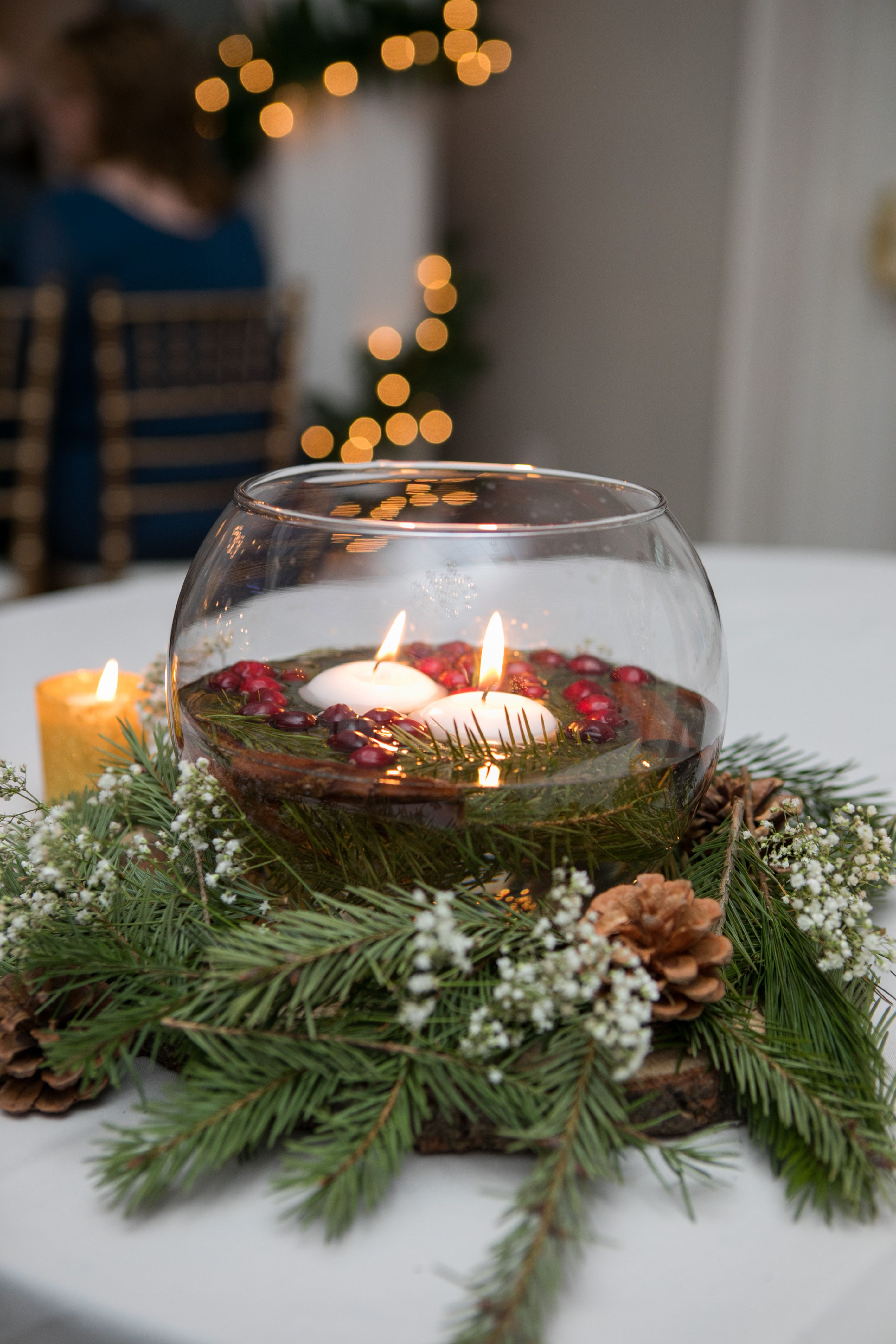 Winter Wedding Centerpieces Floating Candles Greens Floating Candle Centerpieces Floating Candle Centerpieces Wedding Winter Wedding Centerpieces