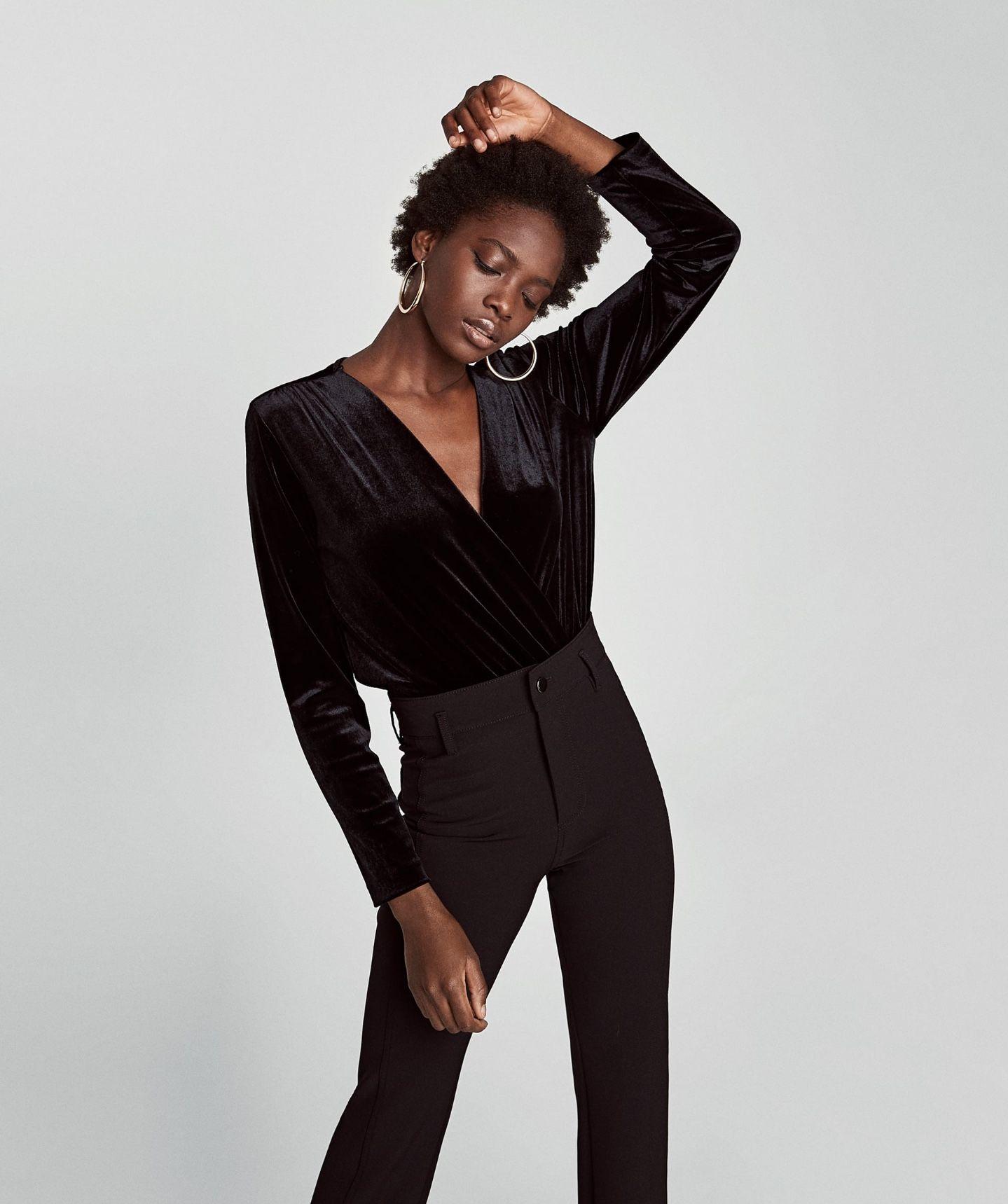 165eceff81 Body terciopelo negro - Zara