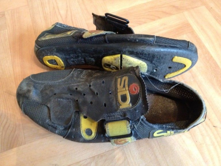 5a73404255 My old cycling clutter  SiDi and TIME shoes