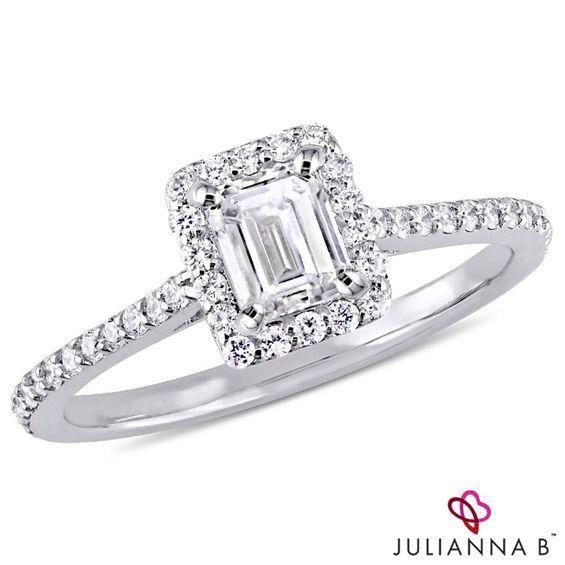 Zales Zales Julianna B 3 4 Ct T W Emerald Cut Diamond Frame