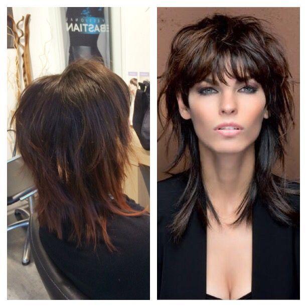 Web Inspired Halblang Inspired Web Frisuren Mittellange Haare Frauen Vokuhila Frisur Haarschnitt