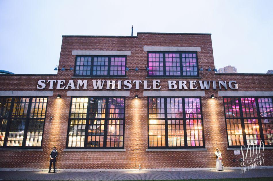 Steam Whistle Brewery, Toronto Kristine + Adam's Wedding