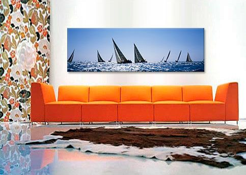 Sailboats racing in the sea, Farr 40's race during Key West Race Week, Key West Florida, 2000 Canvas Print - iCanvasart.com