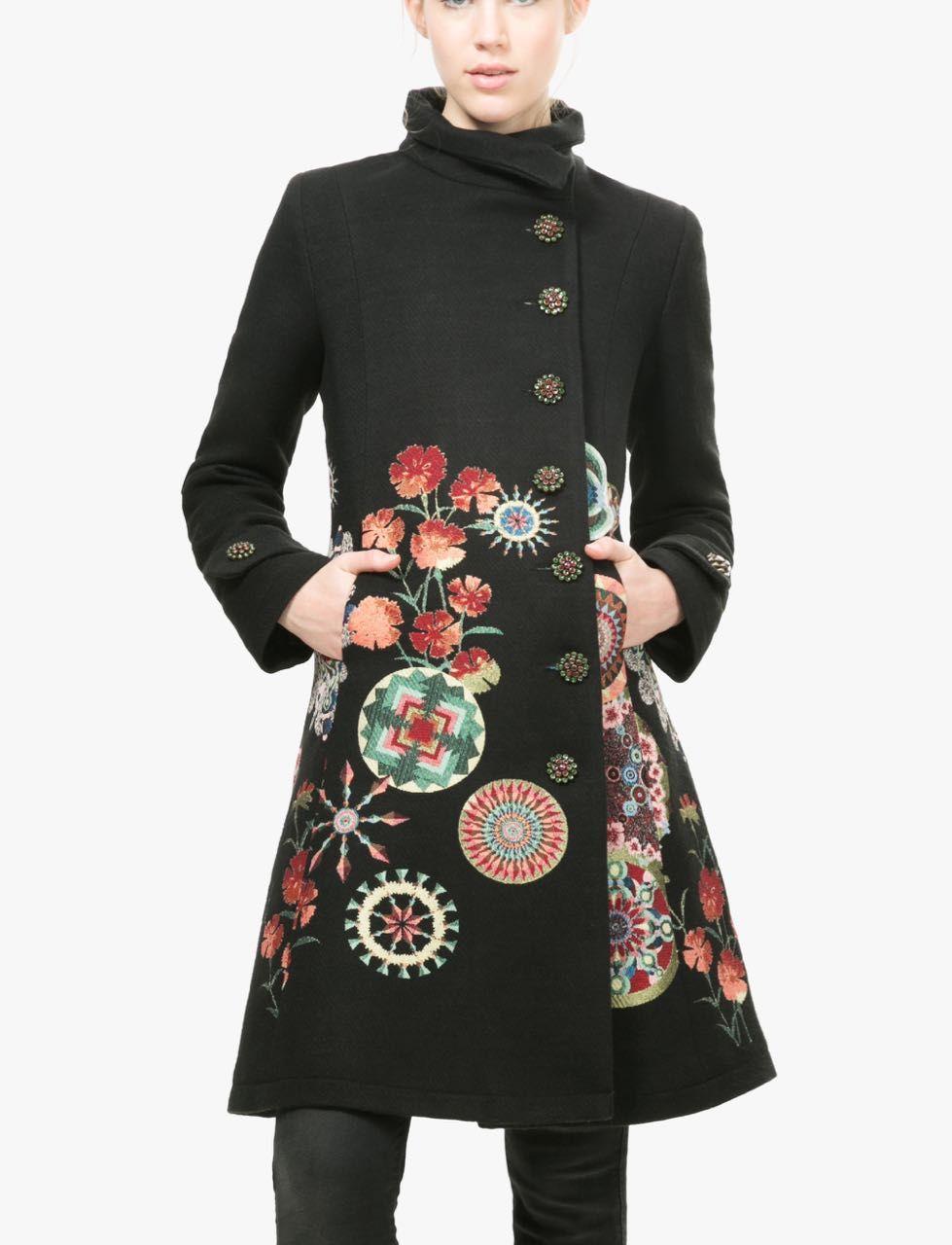 Desigual Black Fall Winter Coat   Asos   Pinterest   Fashion, Coat ... a24d68d33280
