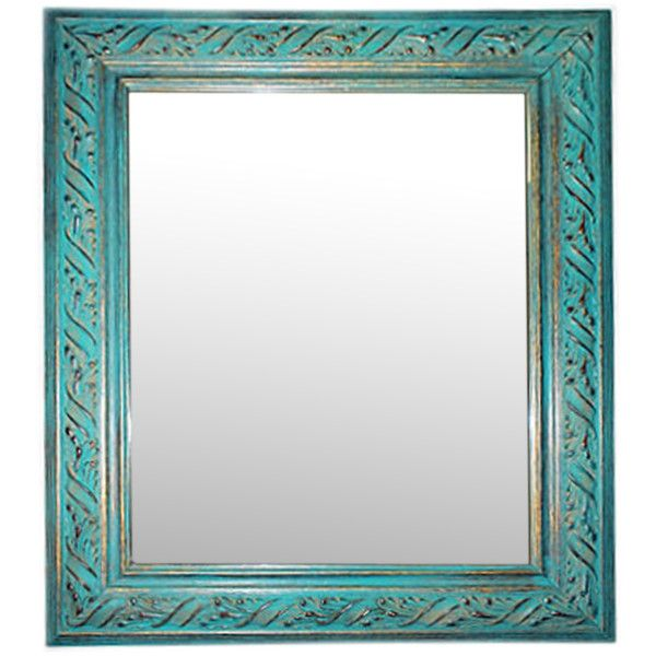 Washed Gilt Wood Mirror ($225) ❤ liked on Polyvore featuring home ...