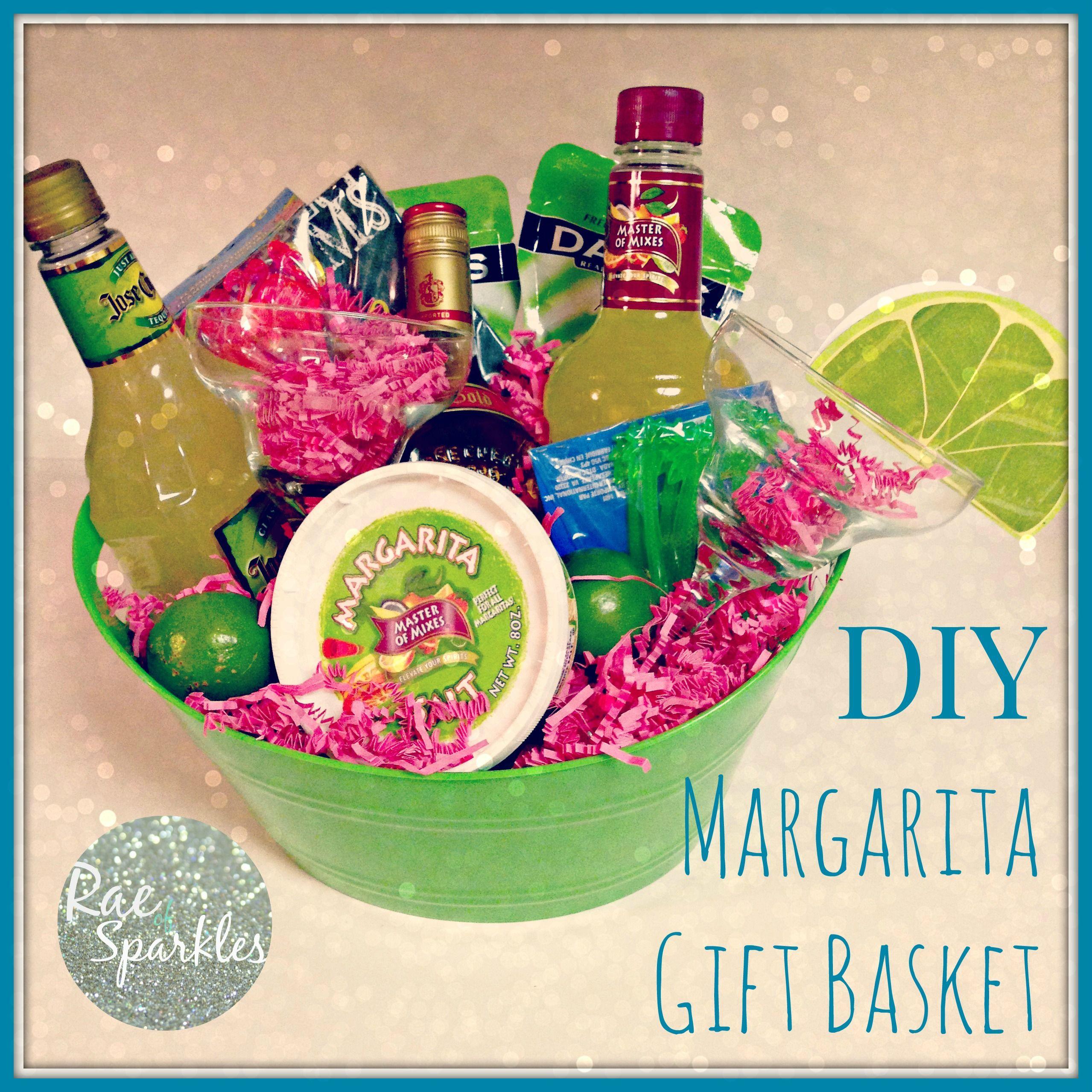 Mom Birthday DIY Margarita Gift Basket Dyi Baskets Theme Creative