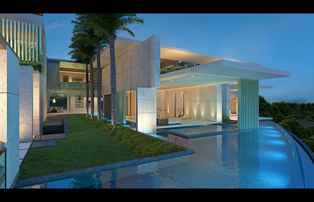 Uae emirates hills dubai united arab emirates saota for Modern house uae