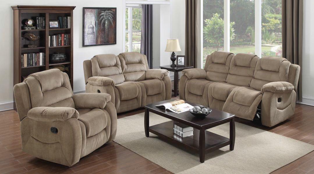 aspen dual reclining sofa set  sunset trading furniture