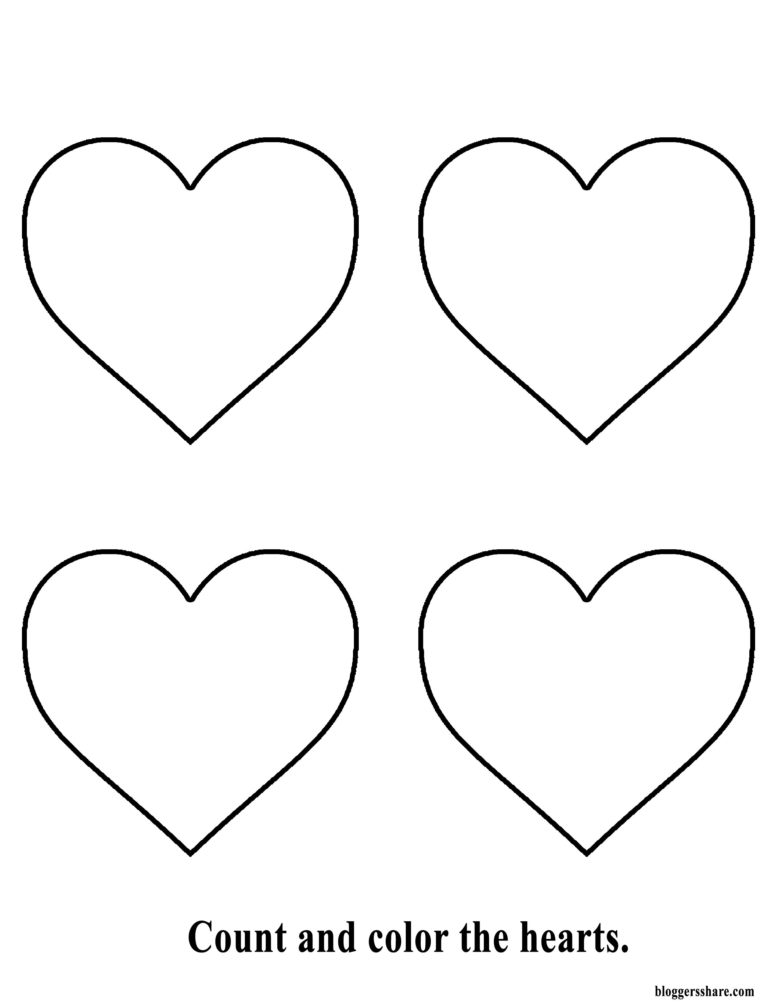 20++ Printable heart coloring pages for preschoolers info