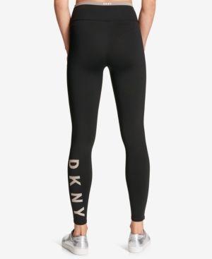 10d8bd4d56e55 Dkny Sport Logo Active Leggings - Black XL | Products | Sports logo ...