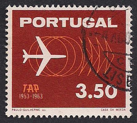 Portugal Stamp 1963 Tap Airplane Selos Selos Postais Cartazes Retro