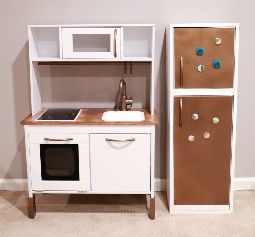 ikea hack building your child 39 s dream duktig play kitchen play kitchen and food pinterest. Black Bedroom Furniture Sets. Home Design Ideas