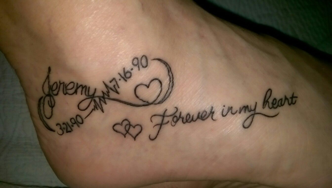 986cfb2c5 Tattoo...in memory of...my son ❤ | Tattoo ideas | Remembrance ...