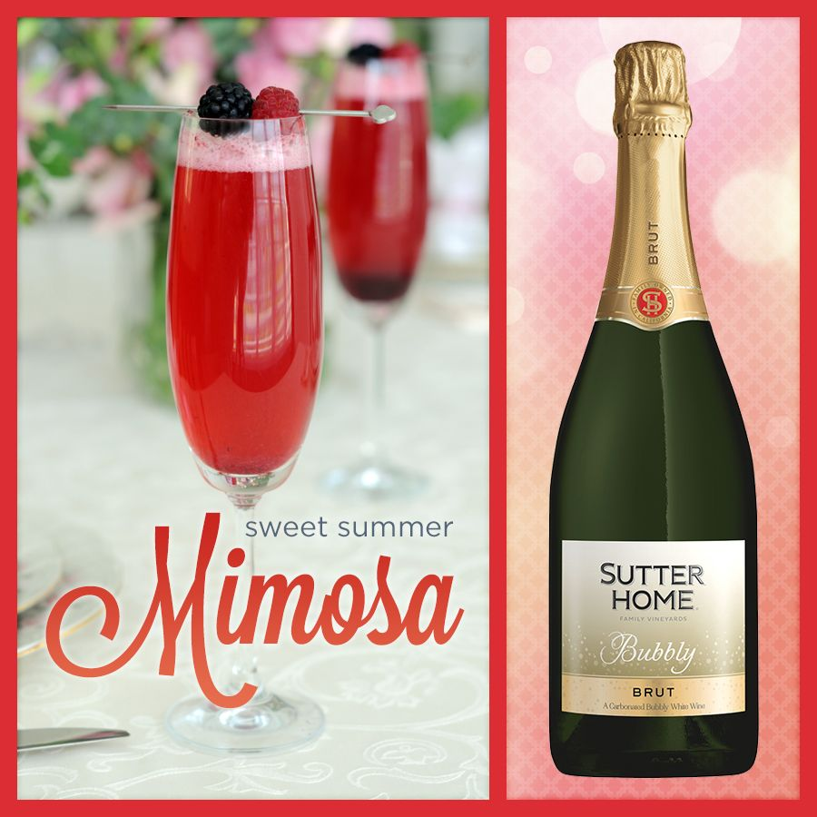 Wine Cocktail Sweet Summer Mimosa Sutter Home Family Vineyards Wine Cocktails Smoothie Drinks Alcholic Drinks