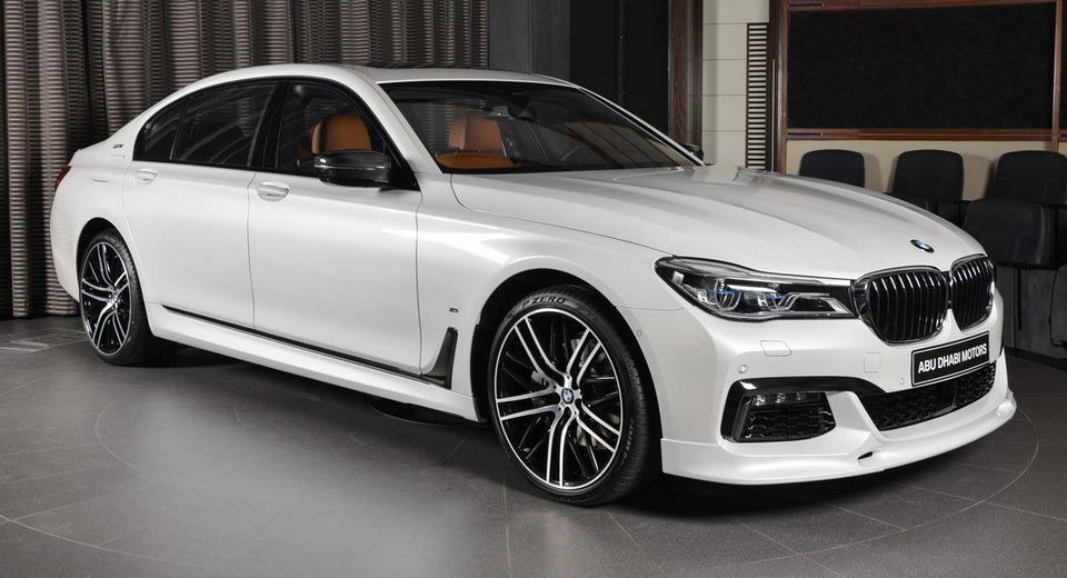 White Bmw 740le Wears M Sport Kit Like Badge Of Honor Bmw Car