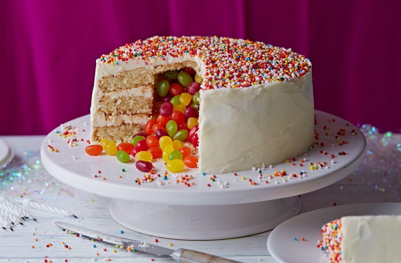 Photo of Surprise Pinata Cake | Cake Ideas | Tesco Real Food –  Surprise Piñata cake  – …