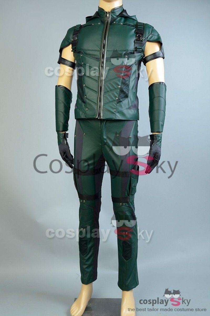 Arrow Fleche Verde Temporada 4 Cosplay Disfraz de cuero  cosplaysky   disfraz… 83feee6d1fab