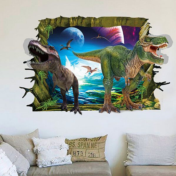 D Dinosaurs Wall Stickers Decals Dinosaur Wall Stickers And - 3d dinosaur wall decalsd dinosaur wall stickers for kids bedrooms jurassic world wall