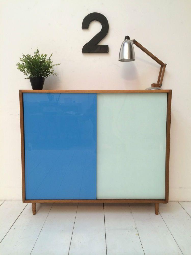 VINTAGE TEAK SIDEBOARD 1960s DANISH INFLUENCE RETRO | Cabinets etc ...