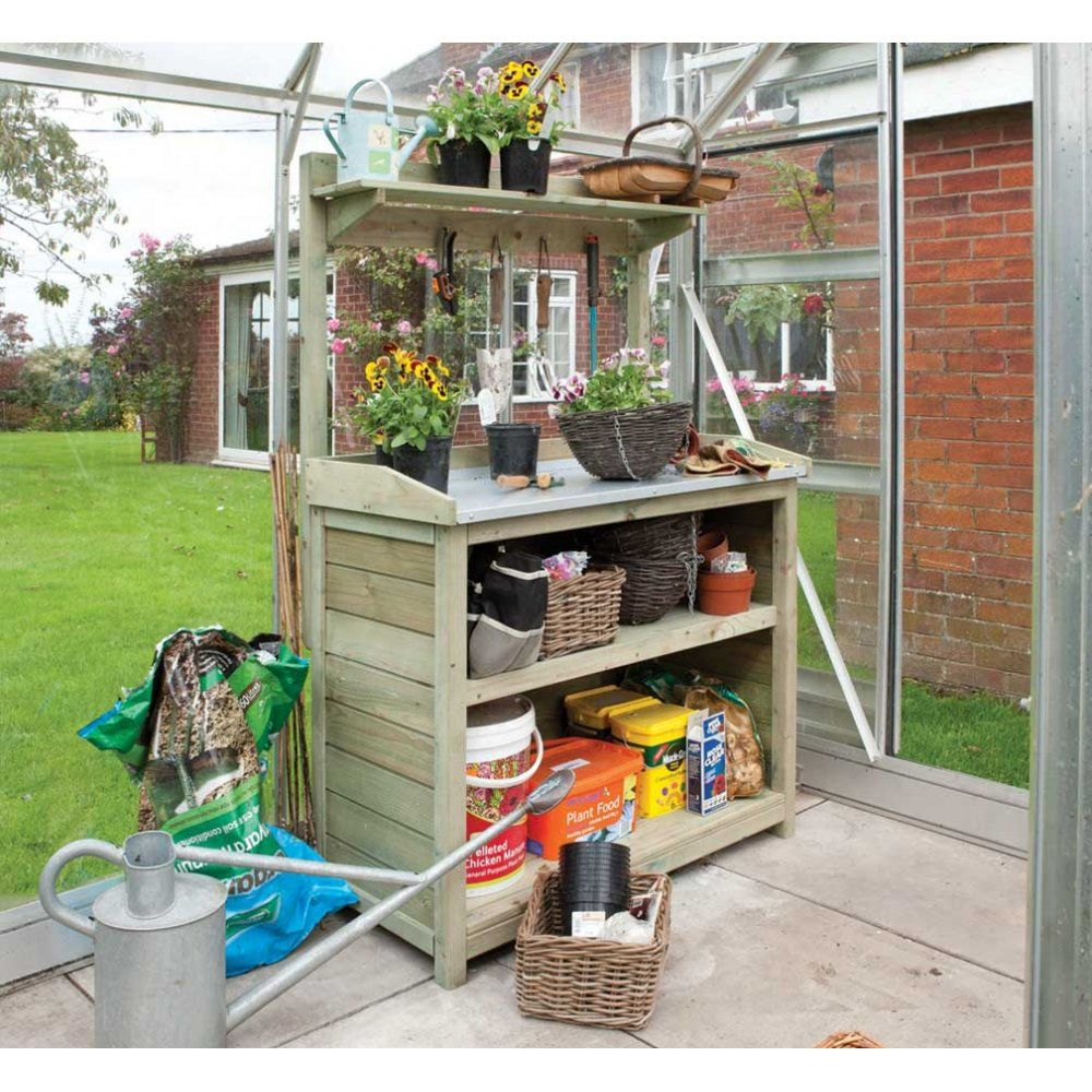 Garden Potting Bench | ... Potting Bench › Rowlinson › Rowlinson Premier Potting Station