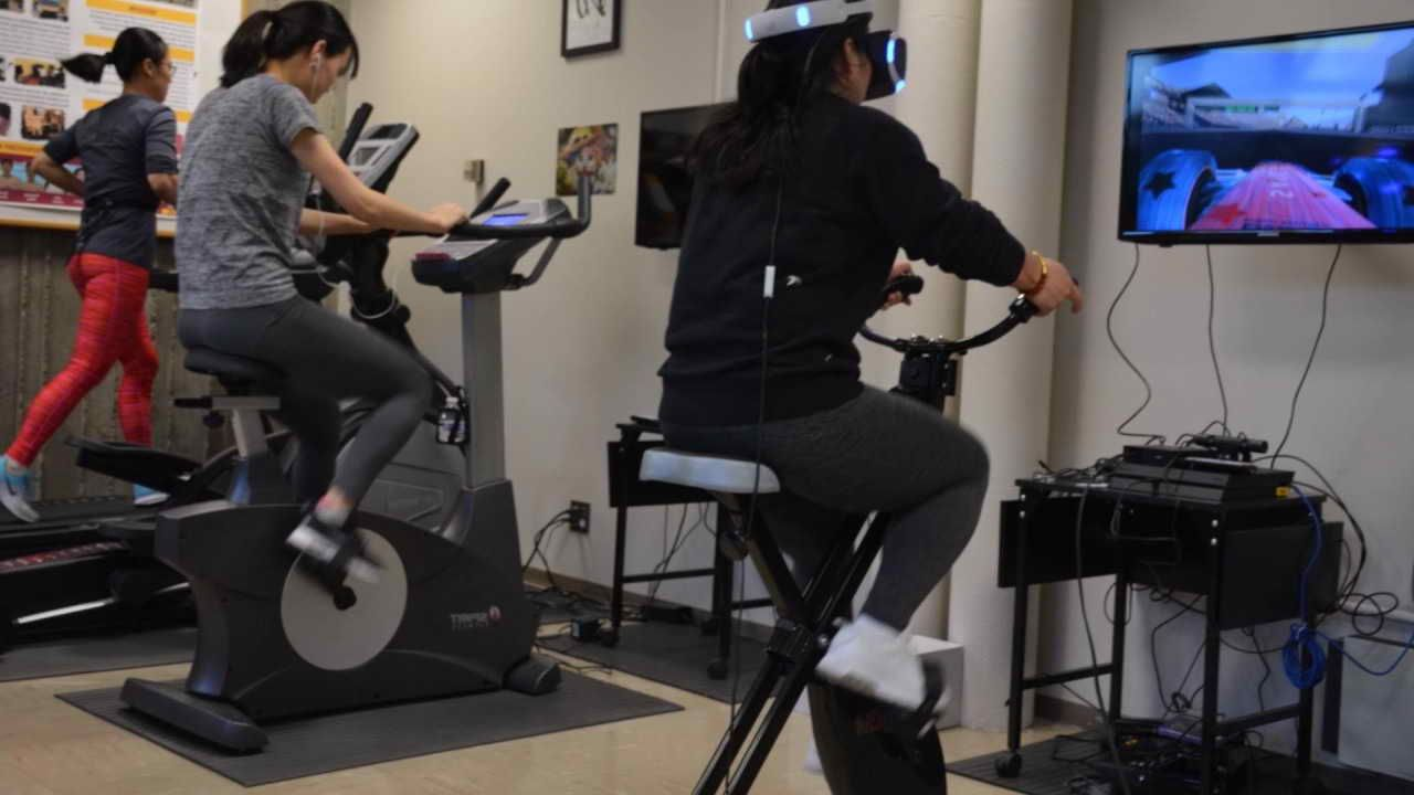 Exercise bike virtual reality virtual reality guide bike