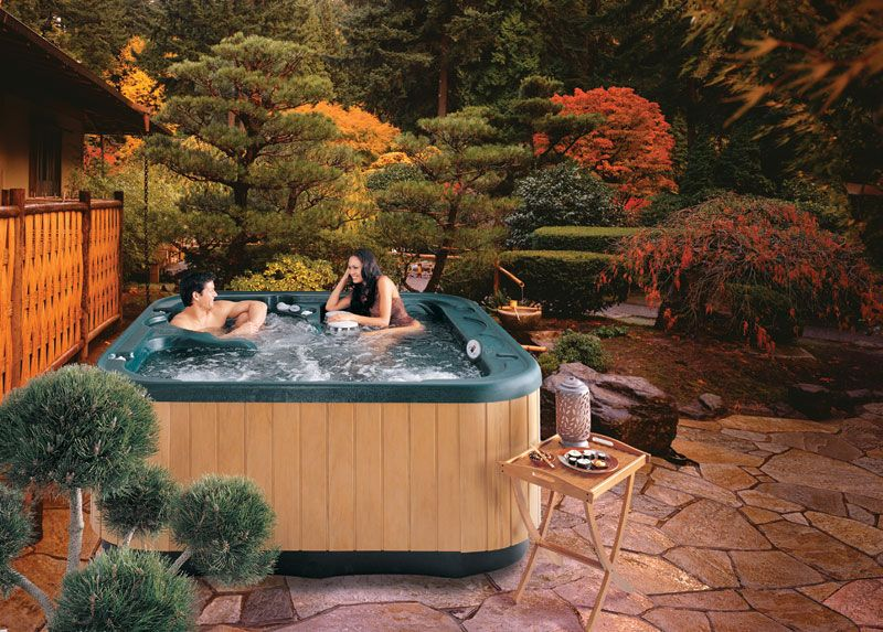 Hot Tub Landscaping For The Beginner On A Budget Hot Tub Landscaping Hot Tub Backyard Hot Tub