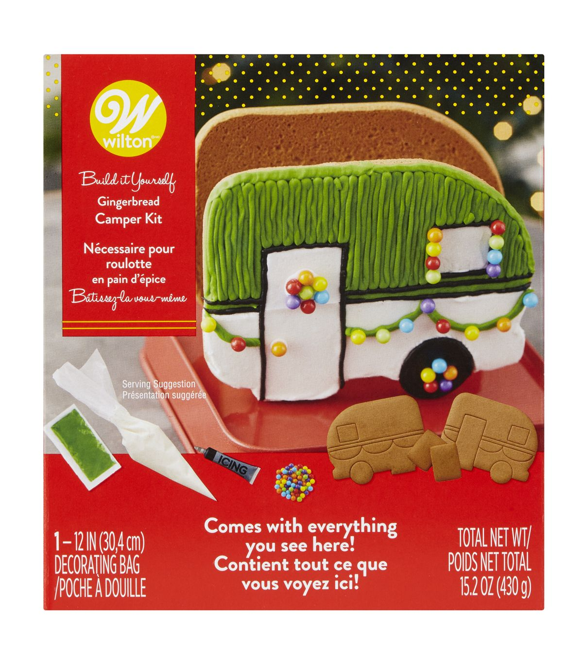 Wilton Christmas Build it Yourself Gingerbread Camper Kit