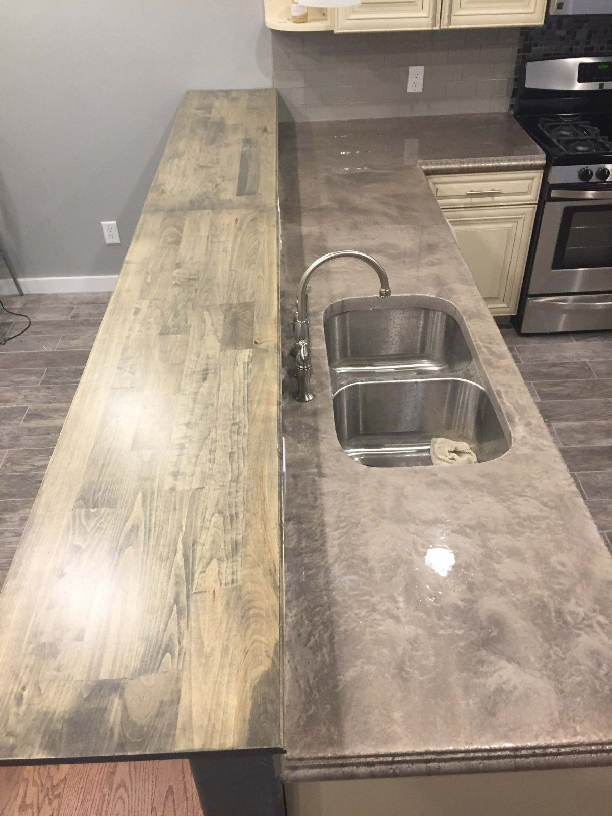 Lava Flow Metallic Epoxy Counter Top Inexpensive Countertops
