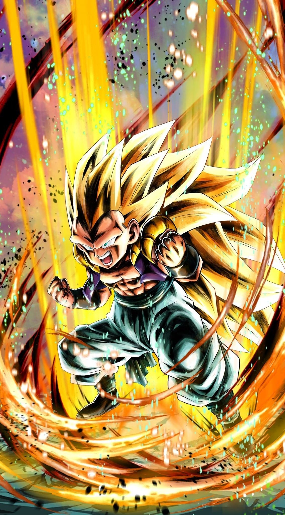 Gotenks Super Saiyan 3 Dragon Ball Legends In 2020 Dragon Ball Wallpapers Anime Dragon Ball Super Dragon Ball Artwork