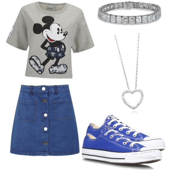 Mickey Mouse by joigregg on Polyvore featuring polyvore fashion style Paul & Joe Sister Miss Selfridge Converse