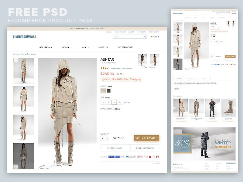 Nice Ecommerce Product Page Template Free Psd Download Ecommerce Product Page Template Free Psd A Minimalistic And C Psd Template Free Product Page Ecommerce